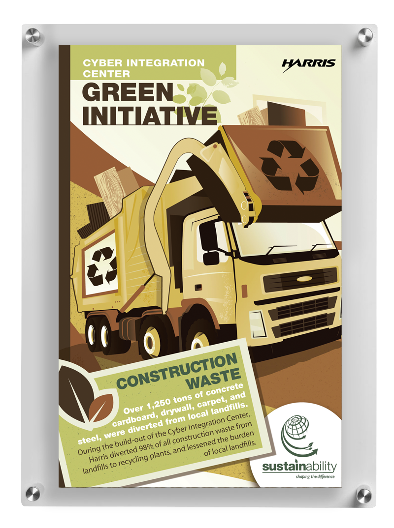 Linda Hanus - Green Initiative Construction Waste Poster Design and Illustration