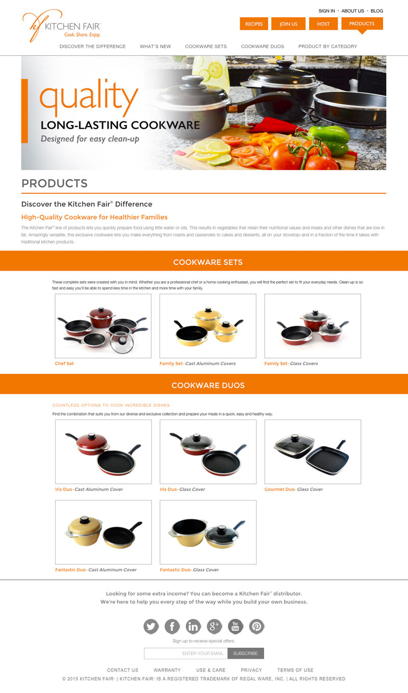 Linda Hanus - Kitchen Fair Products Page